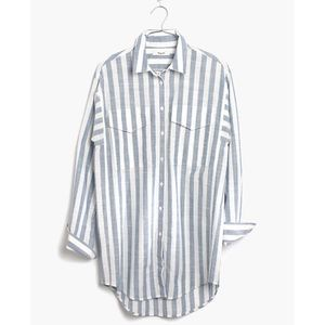 Madewell Oversized Button Down in Major Stripe